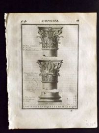 Vignola 1720 Architectural Print. Composite Capital 37